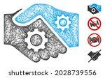 mesh smart contract handshake... | Shutterstock .eps vector #2028739556