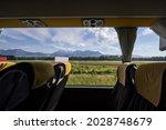 Large Window In An Empty Bus...
