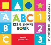 abc book cover  alphabet cover  ... | Shutterstock .eps vector #2028806633