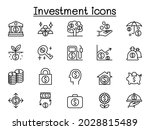 investment icons set in thin... | Shutterstock .eps vector #2028815489