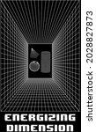 scientific energizing dimension ... | Shutterstock .eps vector #2028827873