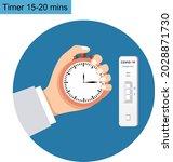 covid19 rapid diagnostic test...   Shutterstock .eps vector #2028871730