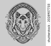 tattoo and t shirt design black ... | Shutterstock .eps vector #2028907733