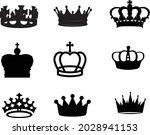 crown vector set golden royal...   Shutterstock .eps vector #2028941153