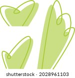 minimalist vector bushes set  ...   Shutterstock .eps vector #2028961103