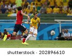 Постер, плакат: Neymar of Brazil compete