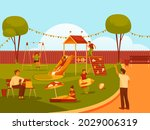 vector banner of playground or... | Shutterstock .eps vector #2029006319