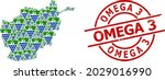scratched omega 3 stamp  and... | Shutterstock .eps vector #2029016990