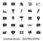 blog silhouette vector icons...