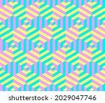 cubes. vector geometric... | Shutterstock .eps vector #2029047746