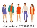set of young men and women ...   Shutterstock .eps vector #2029092539