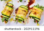grilled zucchini with tomato ... | Shutterstock . vector #202911196