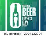 national beer lover s day.... | Shutterstock .eps vector #2029132709