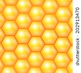 honeycomb background. vector... | Shutterstock .eps vector #202913470