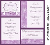 set of wedding invitations and... | Shutterstock .eps vector #202915294