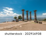 the ancient ruins of assos and... | Shutterstock . vector #202916938