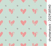 Painted Hearts Pattern