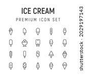 premium pack of ice cream line...