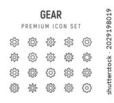premium pack of gear line icons....