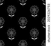 seamless damask floral pattern...   Shutterstock .eps vector #2029226753