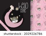cute animal kitten  mouse happy ...   Shutterstock .eps vector #2029226786