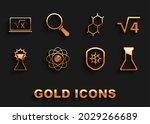 set atom  square root of 4... | Shutterstock .eps vector #2029266689
