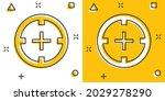 vector cartoon shooting target...   Shutterstock .eps vector #2029278290
