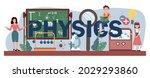 physics typographic header.... | Shutterstock .eps vector #2029293860