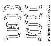 vector set of ribbons | Shutterstock .eps vector #202930126