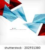futuristic shapes vector... | Shutterstock .eps vector #202931380