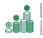 financial plan color line icon. ...