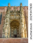Small photo of View at the Portal of Cathedral of Saint Cecilia in Albi - France