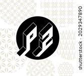 p and z   monogram or logotype. ... | Shutterstock .eps vector #2029347890