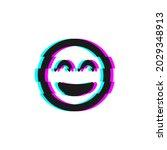 vector icon of glitch smile...   Shutterstock .eps vector #2029348913