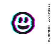 vector icon of glitch smile...   Shutterstock .eps vector #2029348916
