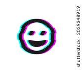 vector icon of glitch smile...   Shutterstock .eps vector #2029348919