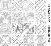 seamless a set of geometrical...   Shutterstock .eps vector #2029398359