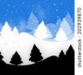 winter landscape | Shutterstock . vector #202939870