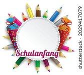 german text schulanfang ...   Shutterstock .eps vector #2029417079