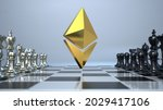 the symbol of ethereum on the...   Shutterstock . vector #2029417106