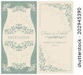 antique baroque wedding... | Shutterstock .eps vector #202945390