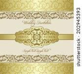 antique baroque wedding... | Shutterstock .eps vector #202945393