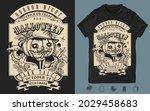 scary portrait jack o' lantern... | Shutterstock .eps vector #2029458683