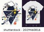astronaut in universe. space... | Shutterstock .eps vector #2029460816