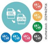 xml json file conversion flat...   Shutterstock .eps vector #2029462916