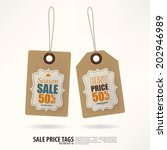 vintage style price tags. | Shutterstock .eps vector #202946989