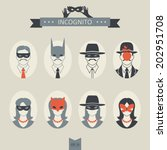 avatar,batman,bead,blouse,collar,curls,disguise,ears,fox,guise,hairdo,hairstyle,hat,icon,incog