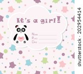 baby girl arrival card. baby... | Shutterstock .eps vector #202954414