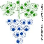 mesh grapes bunch polygonal... | Shutterstock .eps vector #2029546283