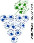 mesh grapes bunch polygonal... | Shutterstock .eps vector #2029546346